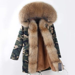 Jackets & Blazers - Camouflage Winter Parkas Real Racoon Fur
